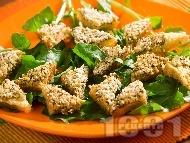 Пържени филийки с тофу